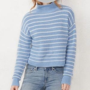 LC Lauren Conrad Funnelneck Cropped Sweater NWT